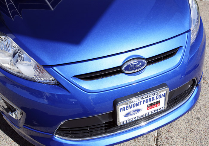 A 2011 Ford Fiesta vehicle is shown at a Ford dealership in Newark, Calif.