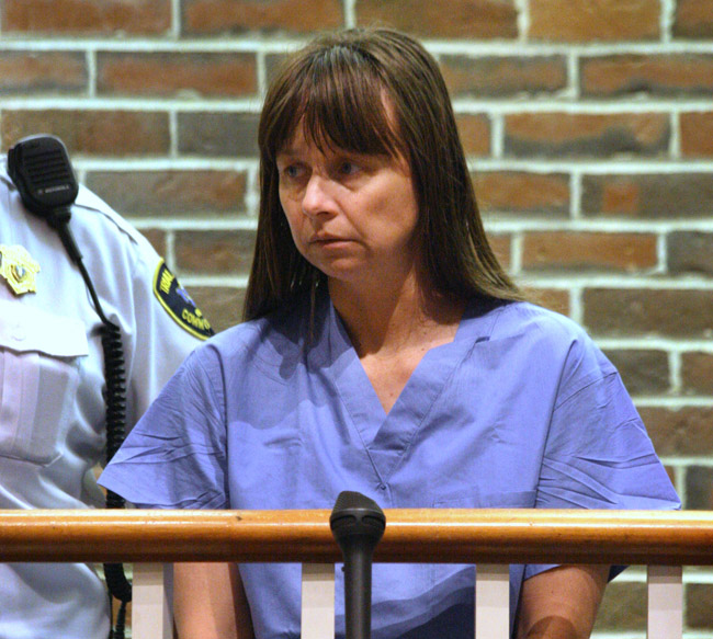 Julianne McCrery, of Irving, Texas, is arraigned today on a fugitive from justice charge in Concord District Court, in Concord, Mass., The 42-year-old McCrery was to be transported to New Hampshire to face a charge of second-degree murder in the death of her 6-year-old son.