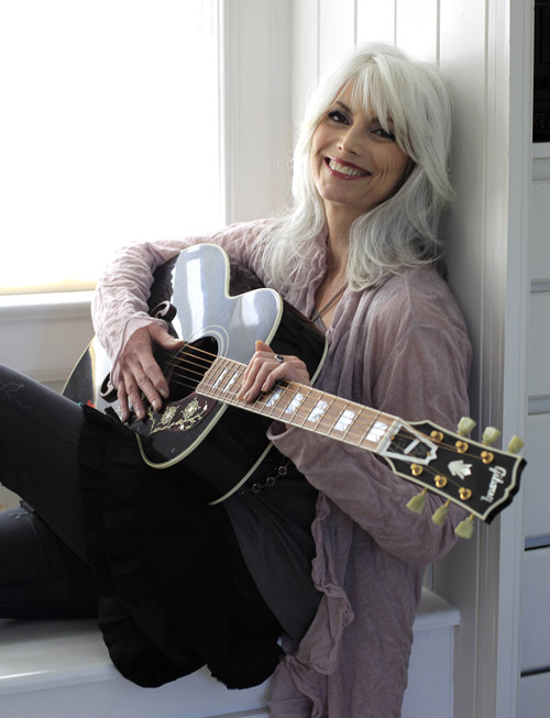 Emmylou Harris, shown recently in her home in Nashville, has a new album titled,