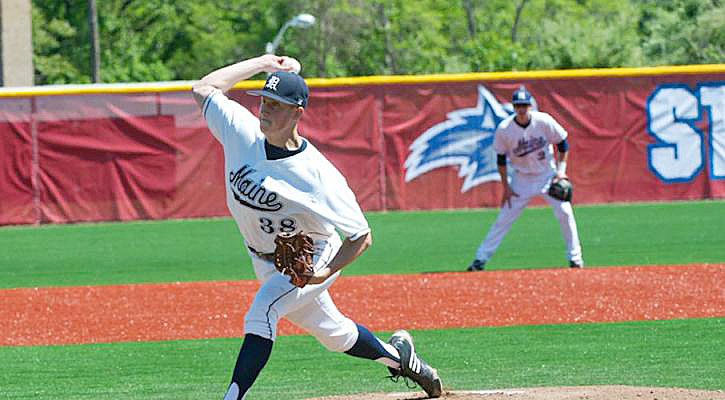 Keith Bilodeau picks up his 10th win of the season leading the University of Maine baseball team to a 4-3 victory over Binghamton in the first round of the 2011 America East Tournament last Wednesday afternoon. He allowed just seven hits, retired 16 straight batters at one point and sent down all nine lead-off hitters.
