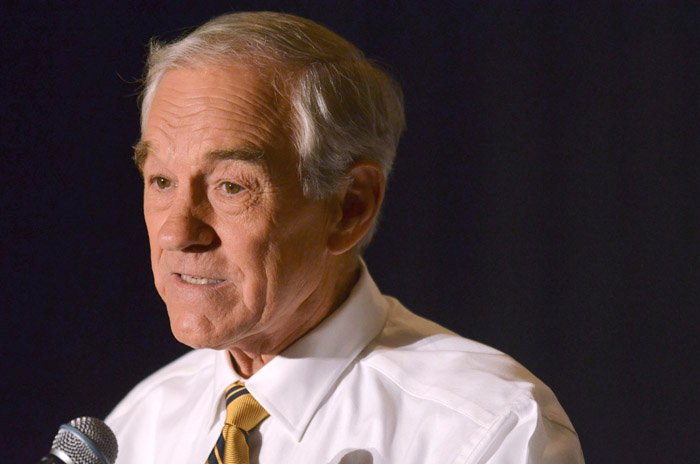 U.S. Rep. Ron Paul, R-Texas, speaks in Greenville, S.C., recently.