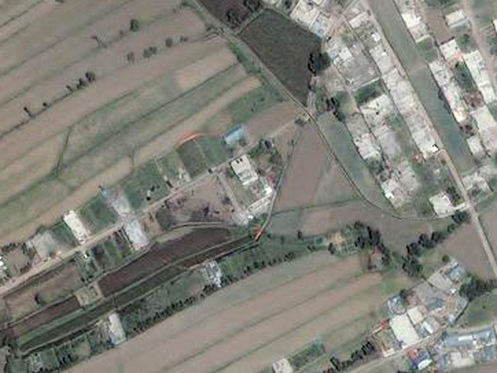 This Monday, May 2, 2011 satellite image provided by GeoEye shows the compound, center, in Abbottabad, Pakistan, where Osama bin Laden lived. Bin Laden, the face of global terrorism and mastermind of the Sept. 11, 2001, attacks, was tracked down and shot to death at the compound by an elite team of U.S. forces, ending an unrelenting manhunt that spanned a frustrating decade. (AP Photo/GeoEye)