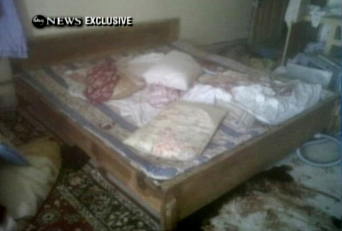Frame grab from video obtained by ABC News shows another view of the interior of the Abbottabad compound.