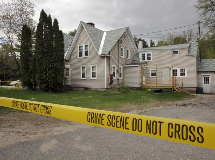 The apartment house at 1880 White Mountain Highway in Ossipee, N.H., where police say Anthony Papile hit Krista Dittmeyer in the head with a mallet in a robbery attempt. Police say that Dittmeyer came to the house because she was friends with Petelis, who had said he would be Dittmeyer's protector while her husband was in jail.