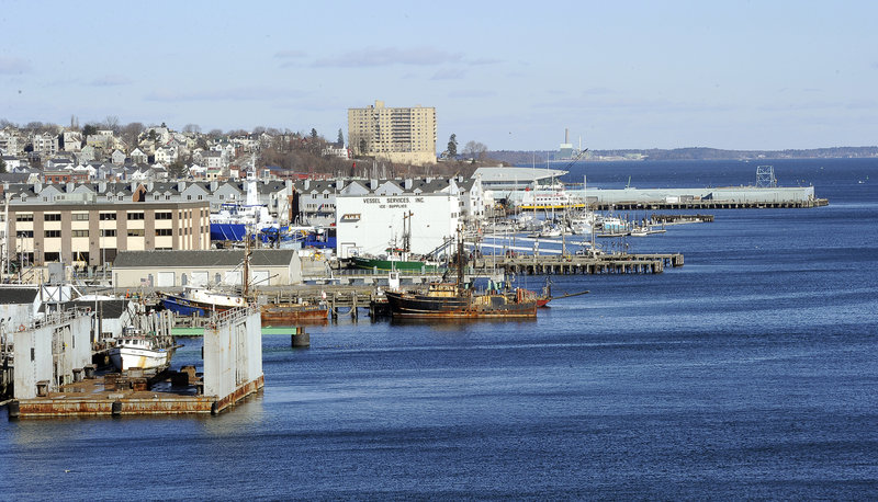 New zoning for Portland's central waterfront – the cluster of piers and wharves between the Maine State Pier and the International Marine Terminal – repeals a ban on non-marine uses of the first floors of most waterfront and pier buildings.