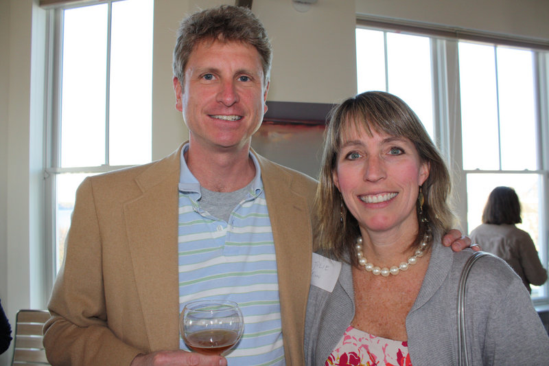 St. Lawrence board member Rob Reusch and his wife, Julie Finn.