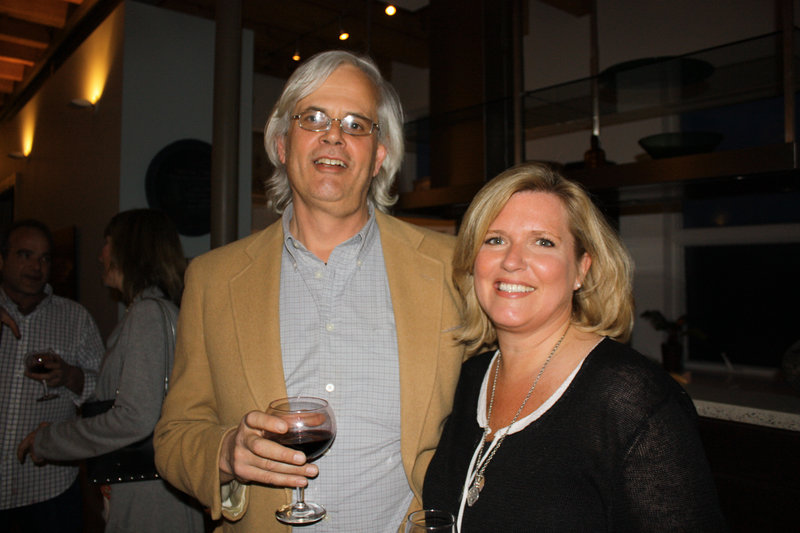 St. Lawrence board member Bill Umbel, who owns Empire Dine and Dance, and Jeanne Hulit of Falmouth.