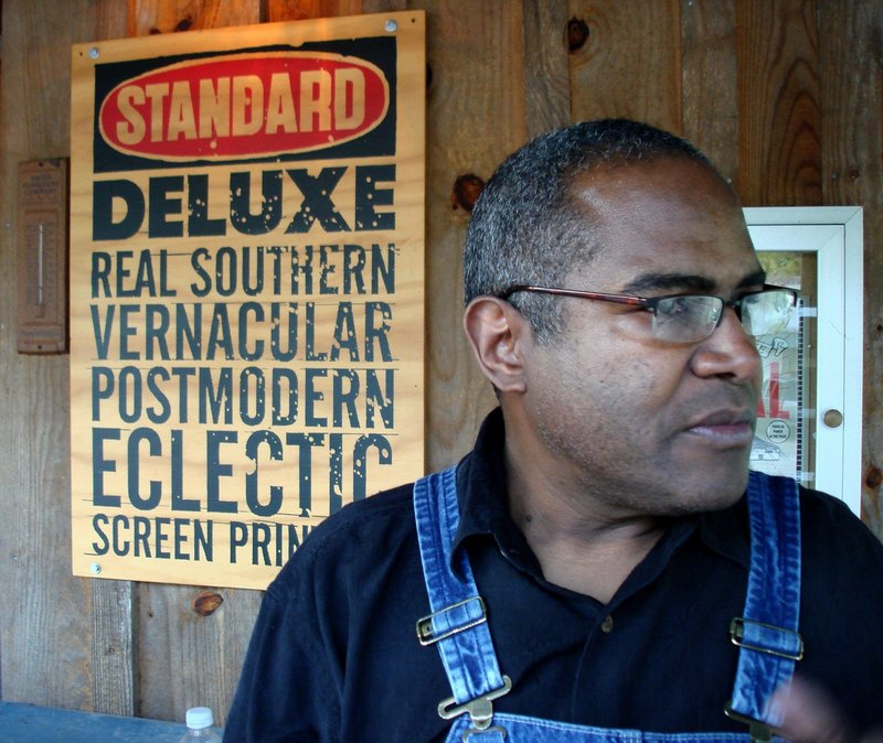 Letterpress printmaker Amos Paul Kennedy Jr. visits the Tides Institute and Museum of Art.