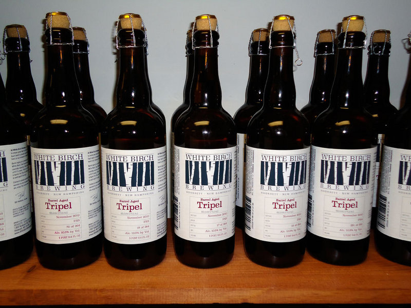 White Birch Brewing's Belgian-style beers mostly come in 22-ounce and 750-milliliter bottles.