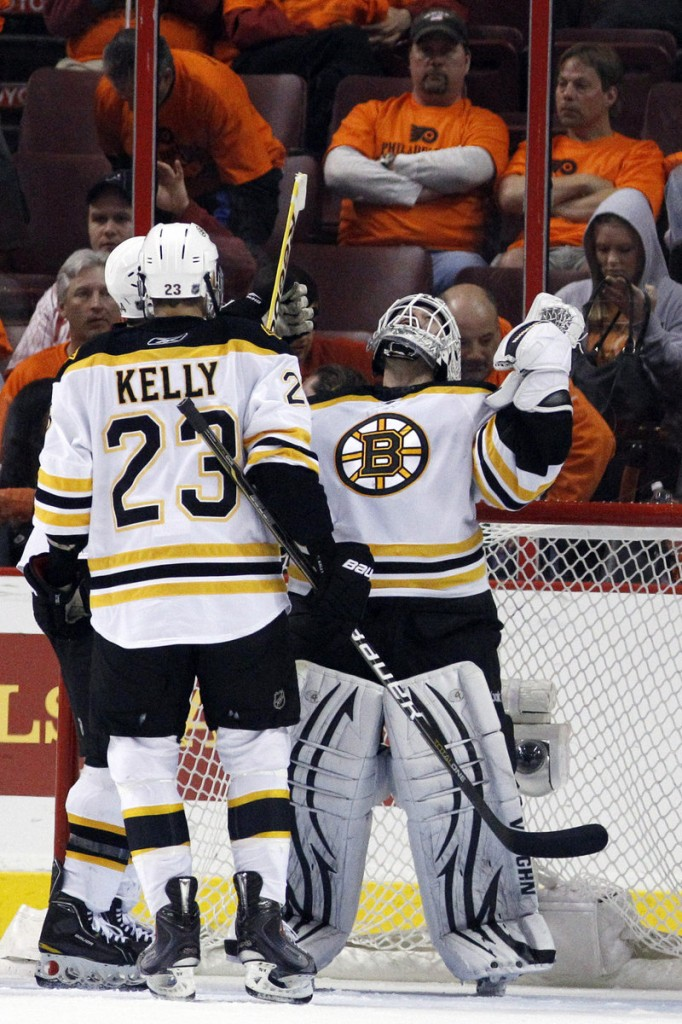 Tim Thomas shook off hip surgery in the offseason to win 35 games and post nine shutouts this season for the Bruins, who hope he'll backstop a deep playoff run.