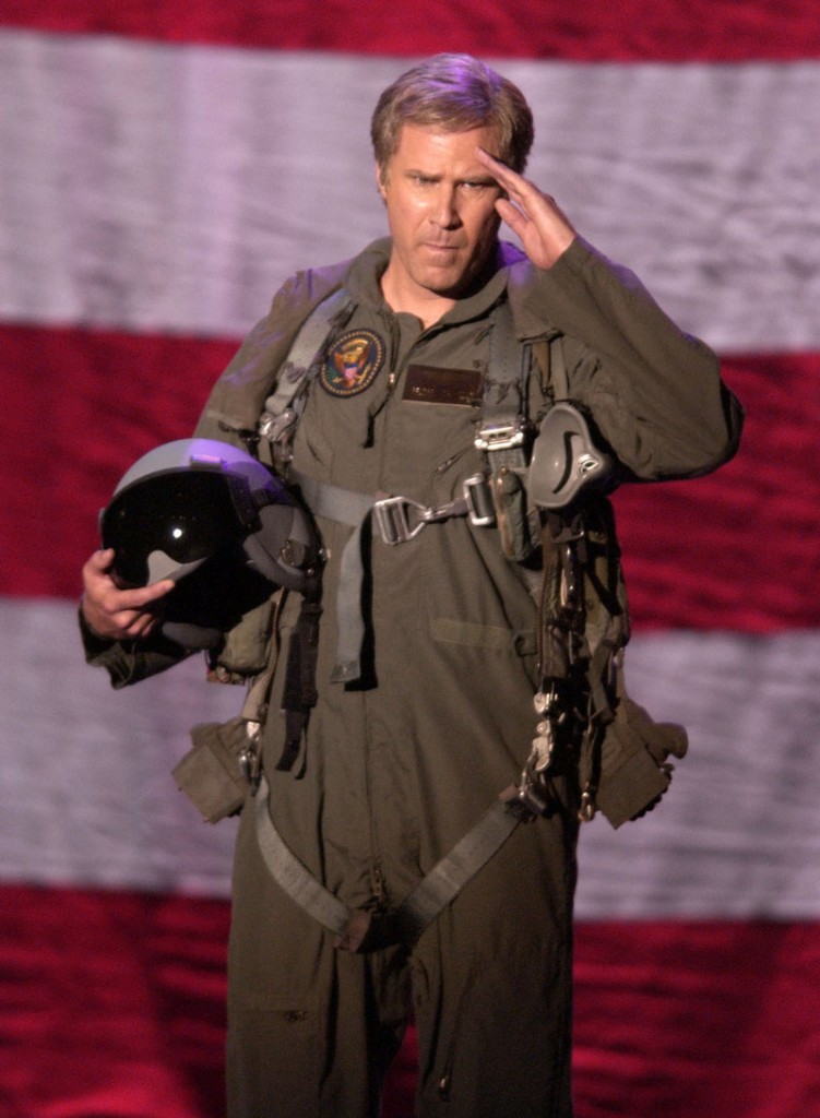 Will Ferrell donned military garb to do an impression of then-President George W. Bush at a Natural Resources Defense Council fundraiser in 2004.
