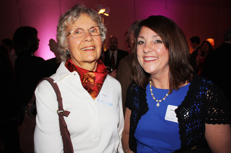 Betty Ellis of West Bowdoin and Diane Dunton Bruni, who chairs the Good Shepherd board.