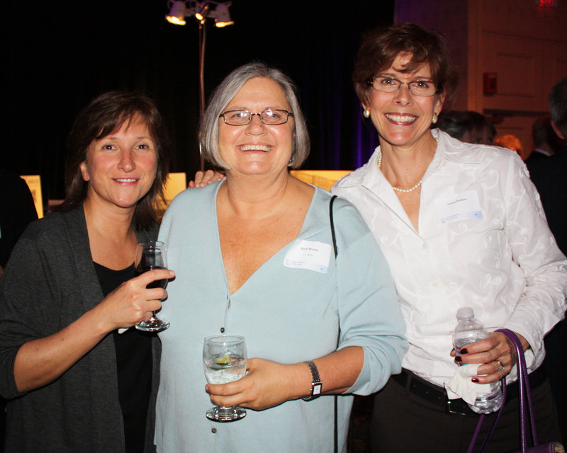 Carol Capomaccio of Portland, Barb Wood of Portland and Laura Perkins of Westbrook.