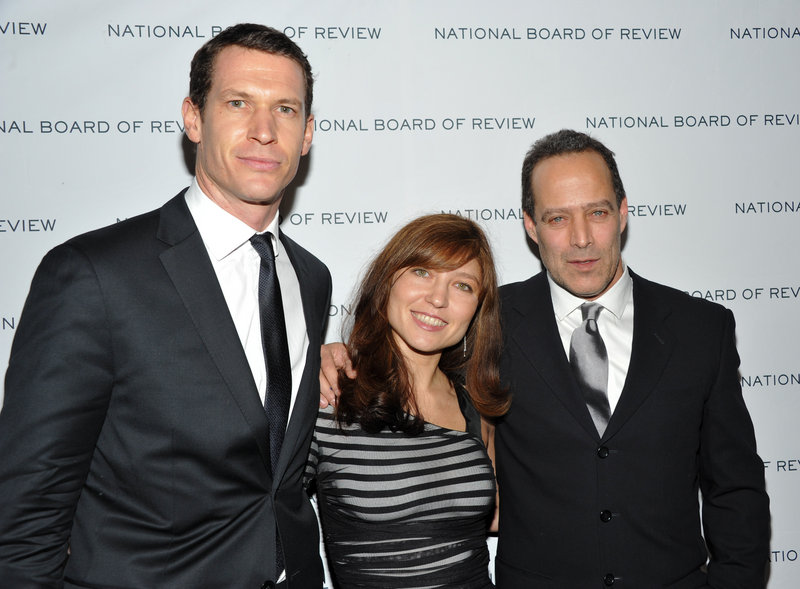 Sebastian Junger, right, with Daniela Petrova and Tim Hetherington