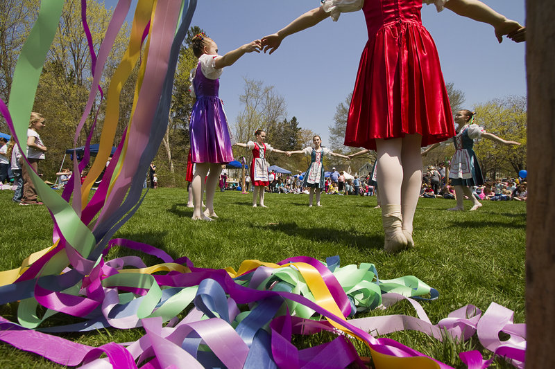 Dancers from the Portland School of Ballet perform Saturday during Kennebunk's 13th annual May Day Festival.