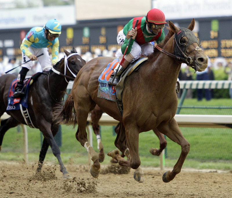 With jockey John Velazquez surprisingly in the saddle, Animal Kingdom overcame 20-1 odds to win the 137th Kentucky Derby on Saturday afternoon.