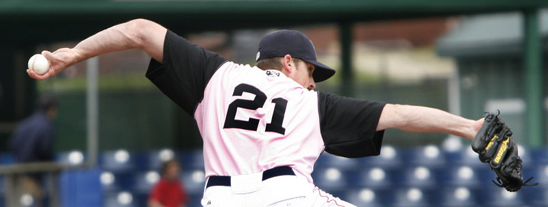 Reliever Tommy Hottovy's two scoreless innings Sunday came too late to save the Sea Dogs from their 17th loss in 27 games.
