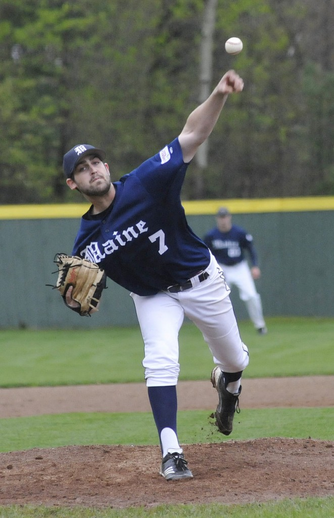 Maine starter Kevin Scanlan allowed just two hits in five innings, and one of the two runs he allowed was unearned. He walked three and struck out four.