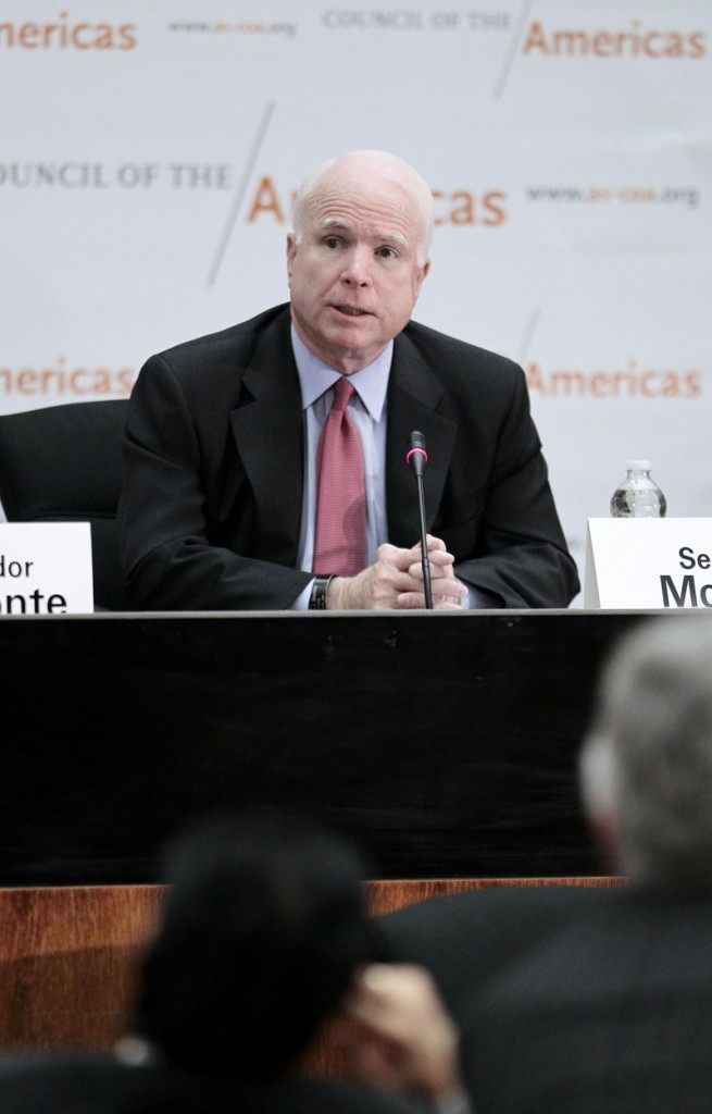 Sen. John McCain says a former attorney general erred in saying harsh treatment elicited clues to bin Laden's location.