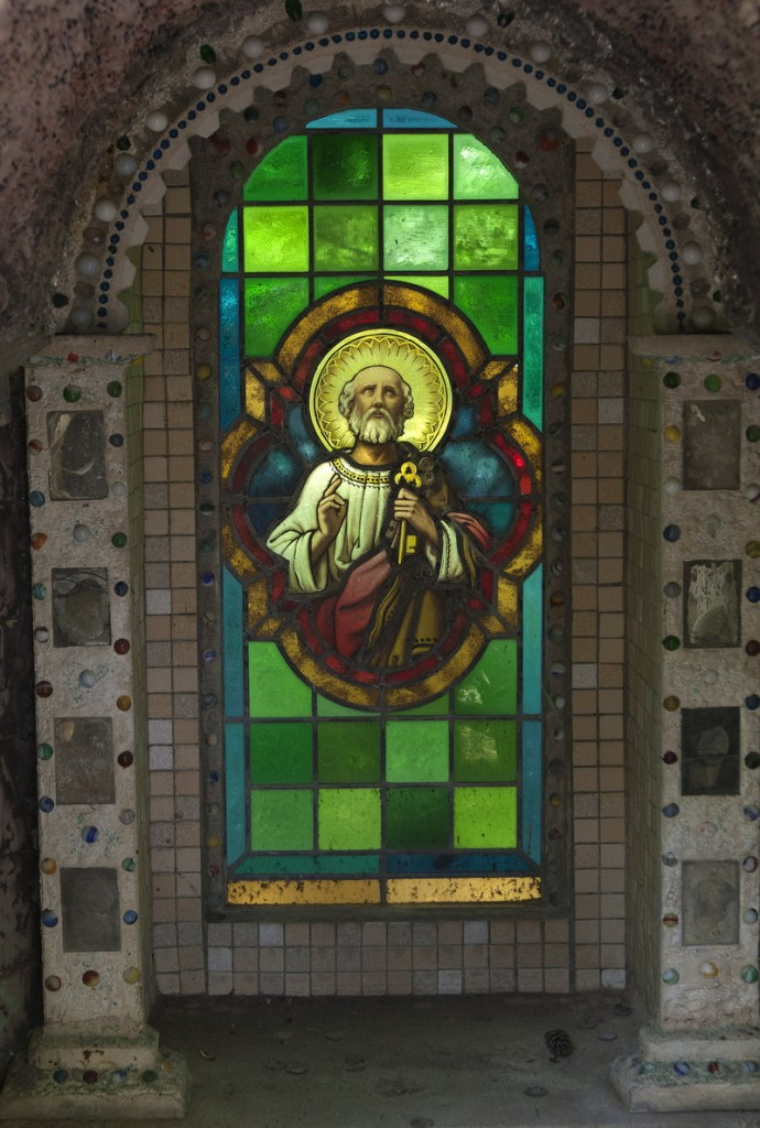 """Artwork at the Ave Maria Grotto survived April's tornado outbreak. """"Some people are saying that God protected us,"""" one worker said."""