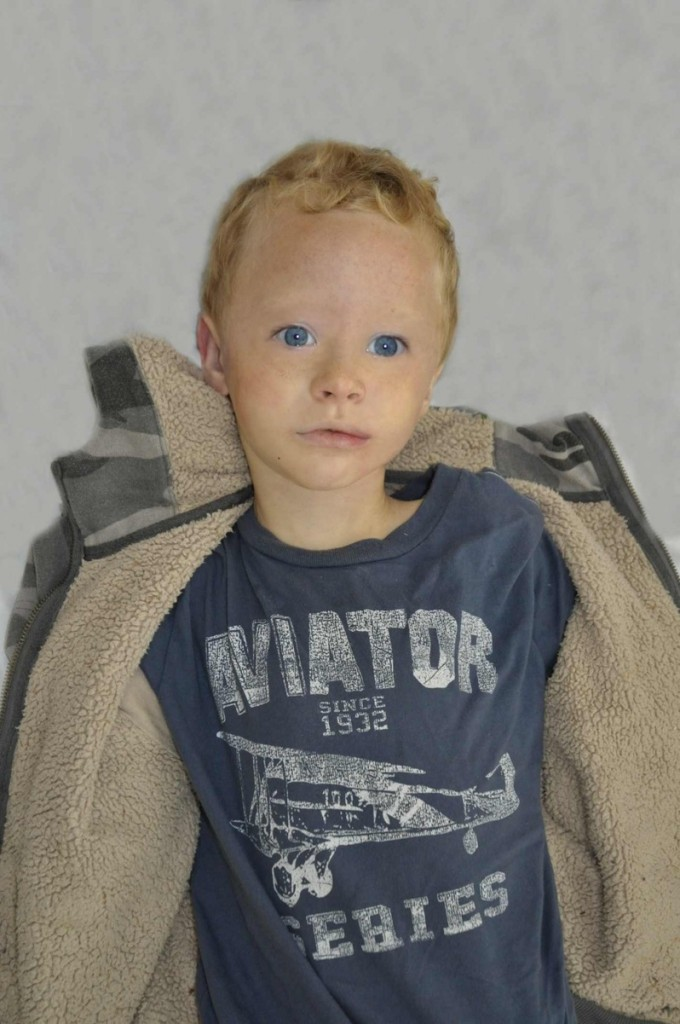 This computer-generated image shows what the boy likely looked like and how he was dressed. Police also are looking for a navy blue Toyota Tacoma pickup truck with an extended cab, full cap over the bed and white license plate. Anyone with information can contact state police at 657-3030 or 911 on a cellphone.