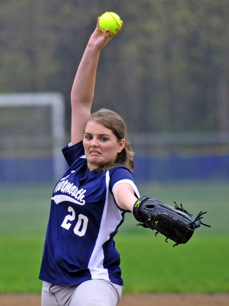 Laura Klepinger of Yarmouth came on in relief in the first inning Wednesday and delivered some key outs to help the Clippers come away with a 3-1 victory at home against Cape Elizabeth.
