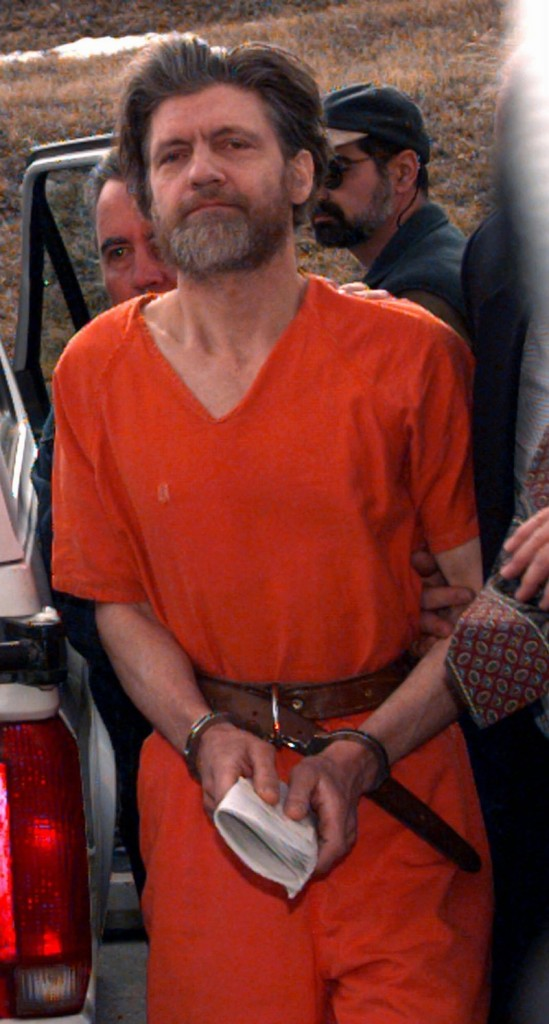 Ted Kaczynski, shown on April 4, 1996, has filed a motion to keep the U.S. Marshal Service from auctioning off certain items.