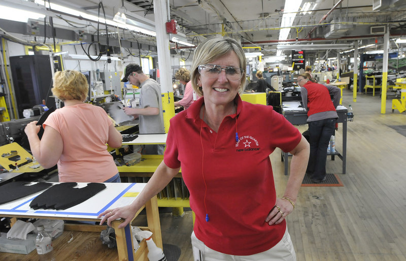 Raye Wentworth, who manages New Balance's Norridgewock plant, joined the company as an accounting clerk. She grew up in Canaan, and both of her parents worked for a time at a shoe factory.