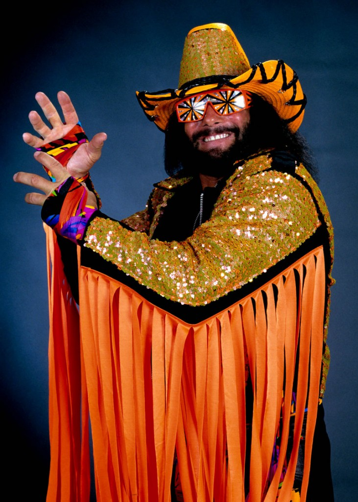 """Professional wrestler Randy """"Macho Man"""" Savage is shown in this publicity image released by WWE."""