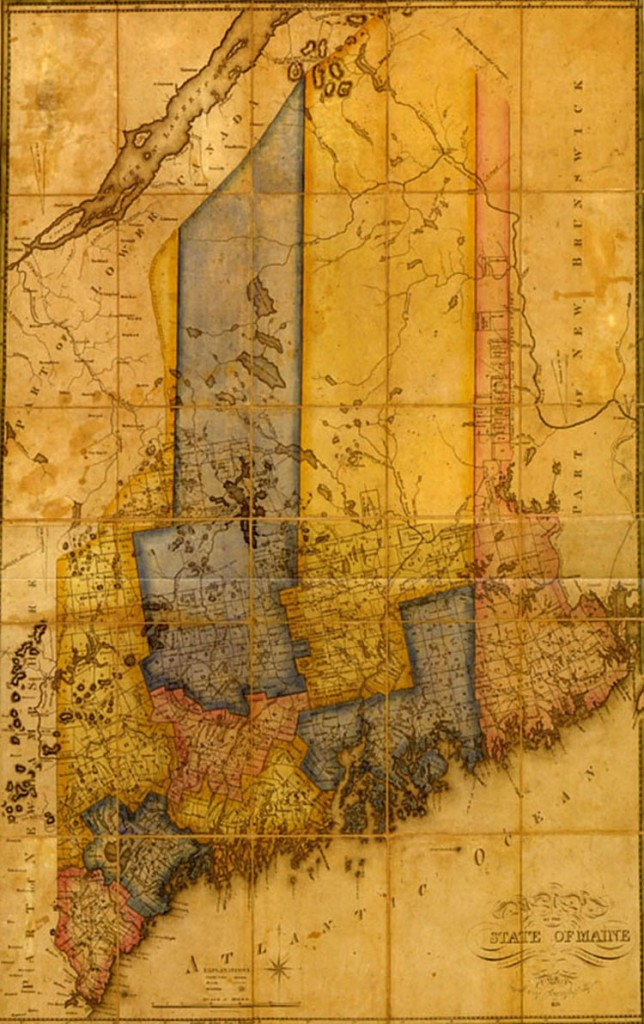 Moses Greenleaf created this map of Maine.