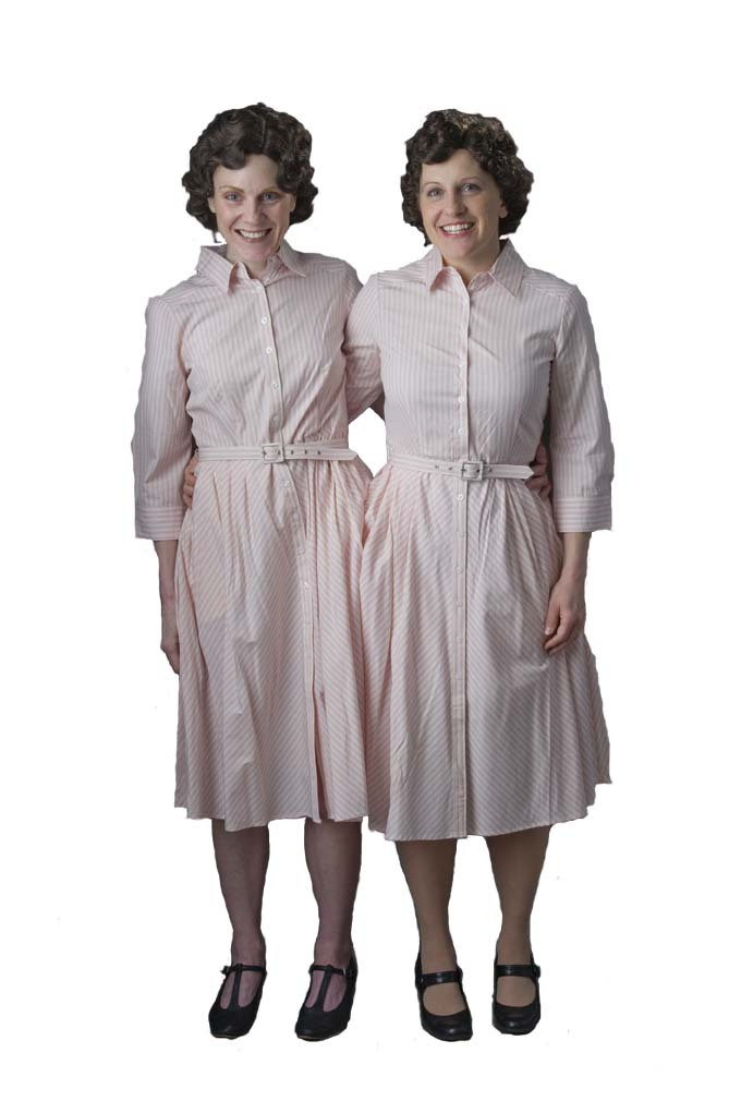 """The musical """"Side Show,"""" at Portland Players, is based on the true story of conjoined twins Daisy and Violet Hilton, above, who started off as a circus act, then became famous stage performers in the 1930s."""
