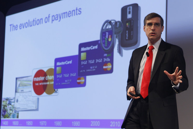 "MasterCard executive Ed McLaughlin speaks about Google's plan to make the smartphone the wallet of the future, a container for credit cards, coupons, receipts and loyalty cards that can be ""tapped"" to store terminals."