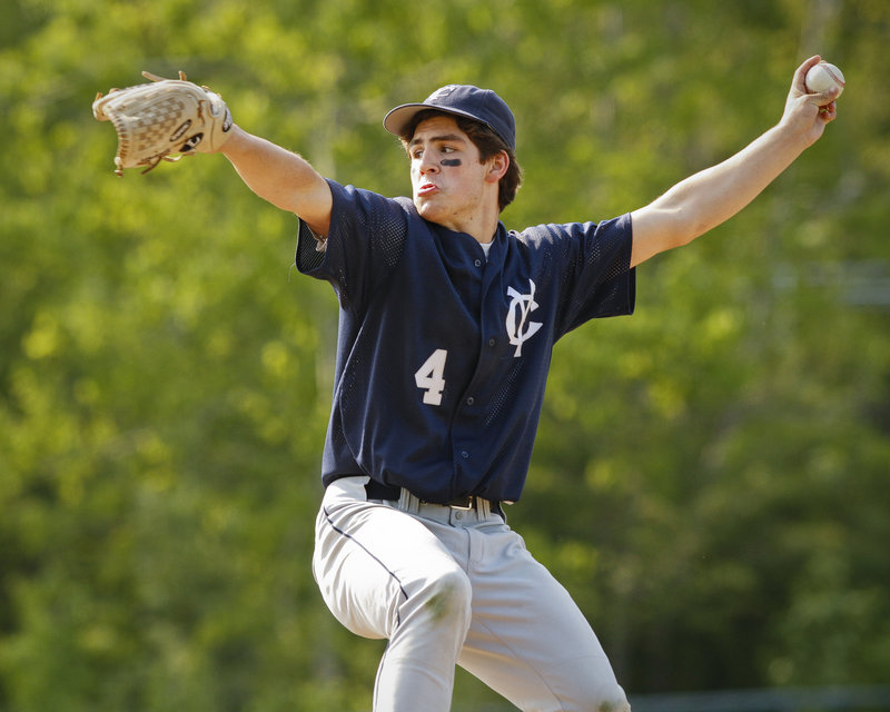 Yarmouth received five scoreless relief innings Friday from Campbell Belisle Haley and was able to rally to a 6-5 victory at home against Greely.