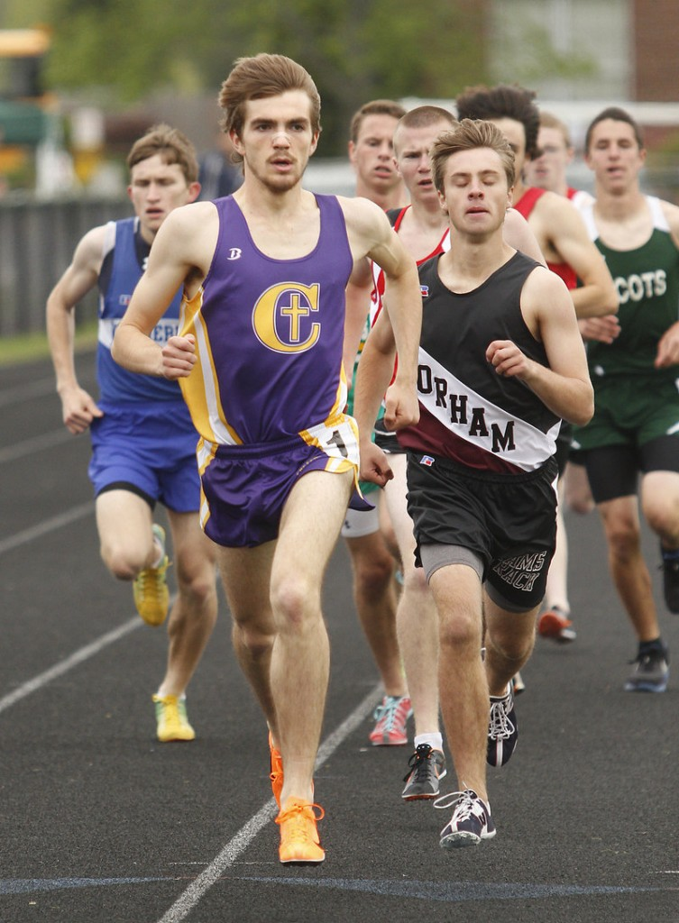 Jack Terwilliger of Cheverus had an exhausting day, winning the 1,600 and also collecting victories in the other distance races, the 800 and 3,200.