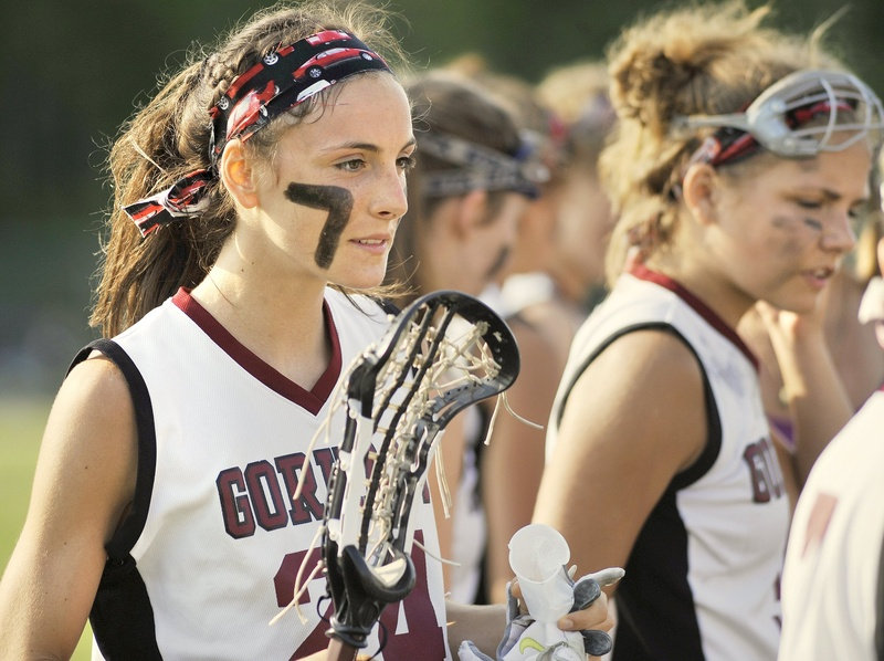 Gorham's Mia Rapolla, a senior lacrosse player who scored 198 goals over the past two seasons, is also an All-State basketball player and outstanding cross country runner.