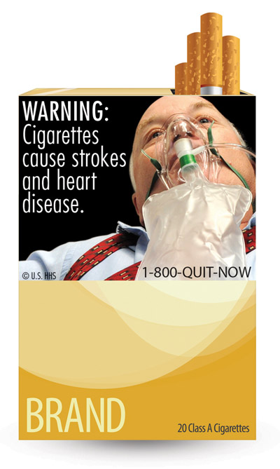 Some of the nine new warning labels cigarette makers will have to use by the fall of 2012.
