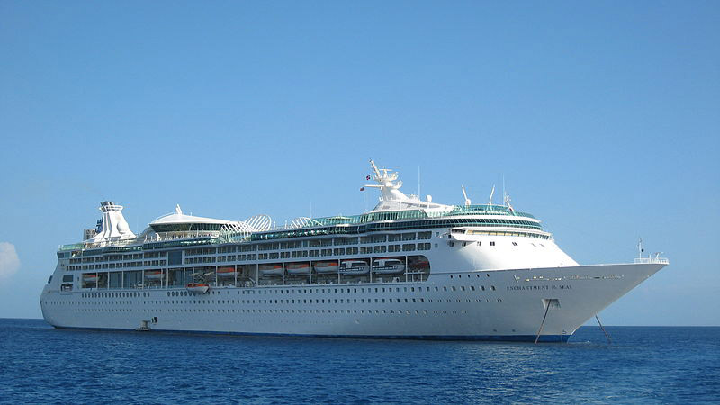 Enchantment represents the first large cruise ship to arrive on the city's waterfront this year.
