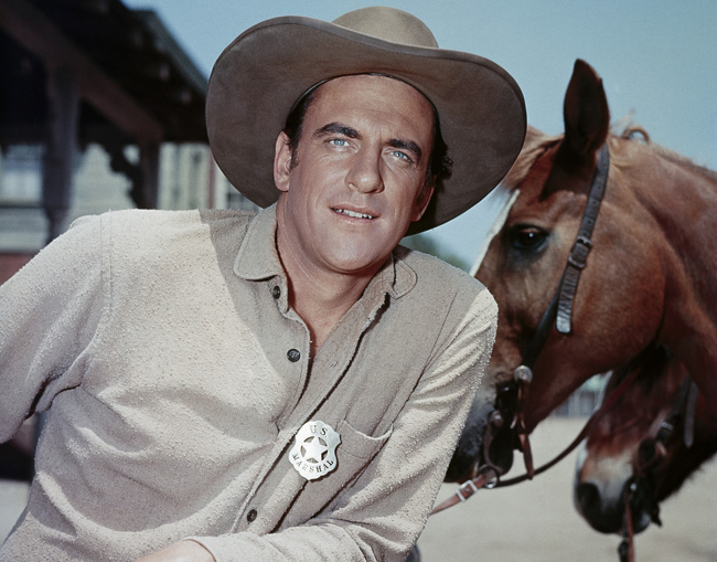 An undated publicity image of actor James Arness as Marshal Matt Dillon in