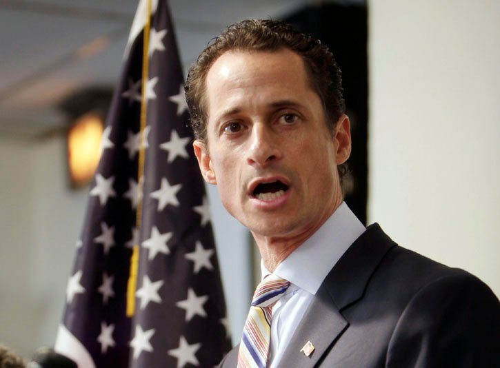 Democratic Rep. Anthony Weiner announces his resignation from Congress today in New York.