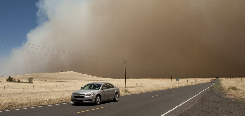 Wallow Fire on Highway 260 in Eagar, Ariz.