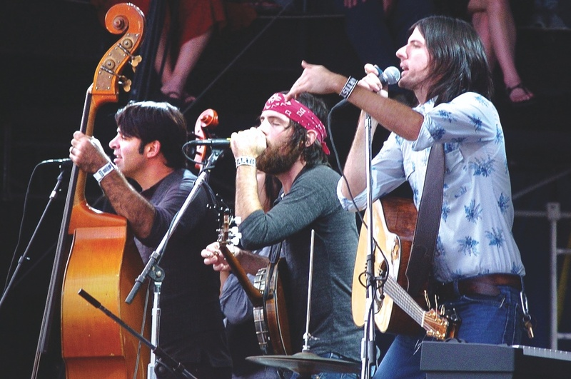 Bob Crawford, who plays upright bass, Scott Avett on banjo and Seth Avett on guitar. When playing live, the band also includes Joe Kwon on cello and Jacob Edwards on drums.