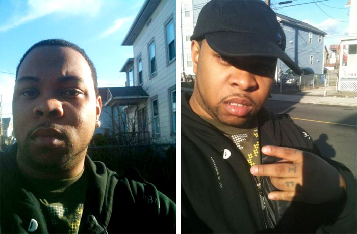 Tareek S. Hendricks, 29, of Worcester, Mass., is still being sought in connection with a fatal stabbing in Westbrook. These photos were recovered from his cell phone.