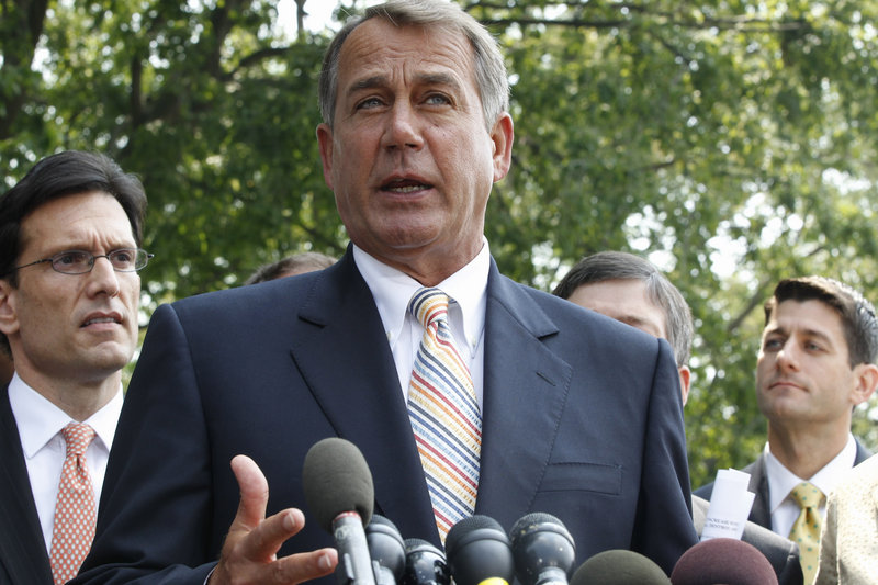 """House Speaker John Boehner, R-Ohio, said he told President Obama at the meeting that """"this is the window of opportunity where we can deal with this on our terms."""""""