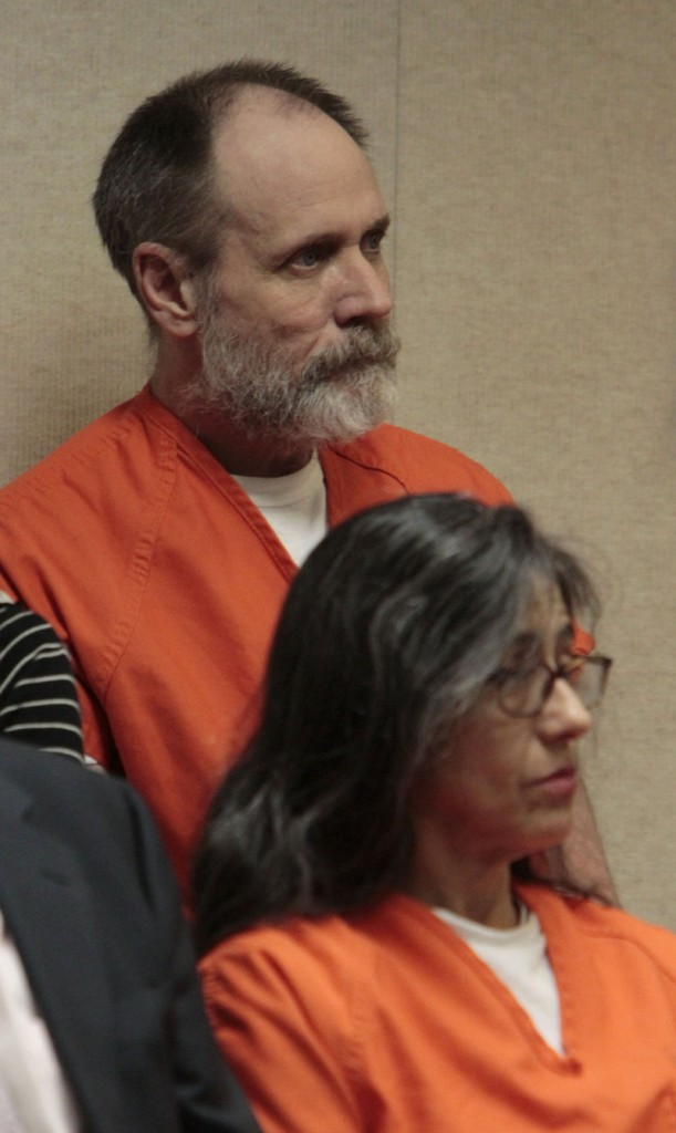 Phillip and Nancy Garrido are seen during their sentencing hearing in El Dorado County Superior Court in Placerville, Calif., on Thursday.