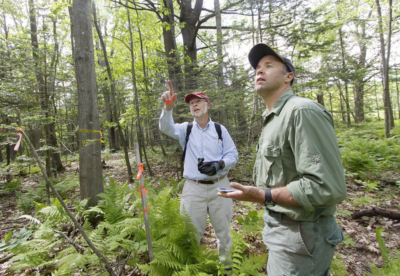 Dan Ostrye and Jim Tasse hope to extend the six-mile trail that is being created or link it to a larger network.
