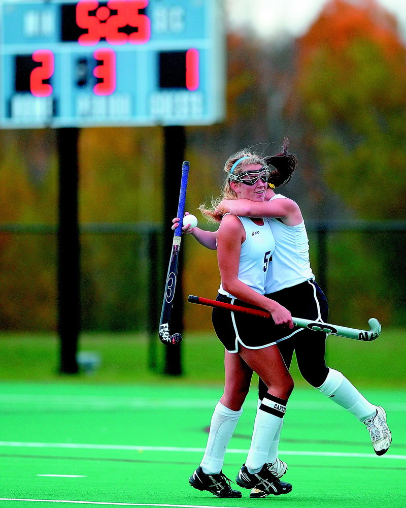 Midfielder Nicole Sevey had 11 goalsand 14 assists while leading Skowhegan to the state Class A field hockey title.