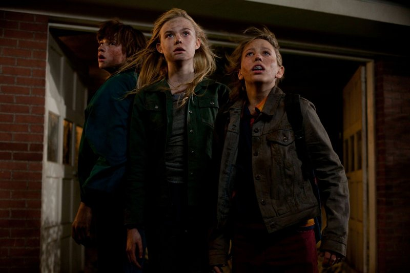 """The kids – Gabriel Basso as Martin, Elle Fanning as Alice and Ryan Lee as Carey – excel in """"Super 8."""""""