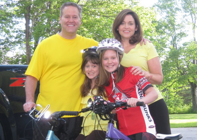 The Lipp Family of New Gloucester will participate in Sunday's Tour de Cure of the Kennebunks, a main fundraiser of the American Diabetes Association. They are, from left: Fred, Jane, Ana and Kim. Ana is a Red Shirt Rider, a diabetic who rides for a cure.