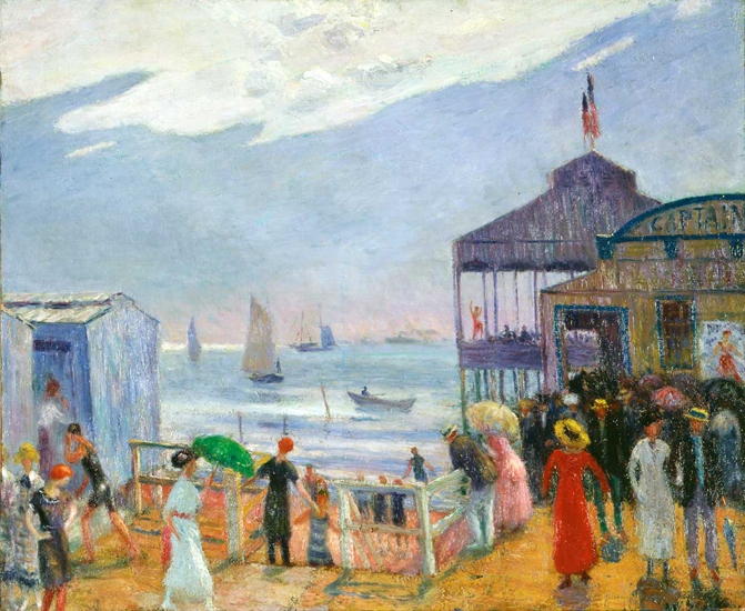 William J. Glackens' oil painting