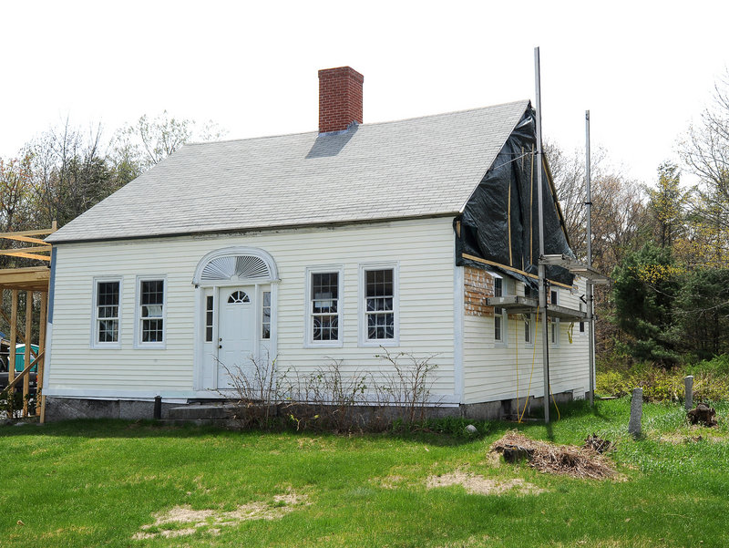 The house in East Baldwin, which was still new in 1840 when Jonathan Poor painted the murals.